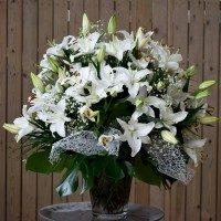 Gerro de lilium blanc