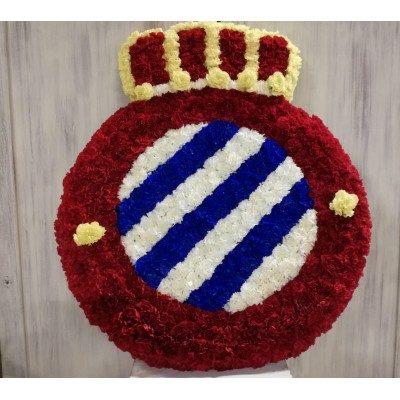 Plafó funerari del escut del RCD Espanyol