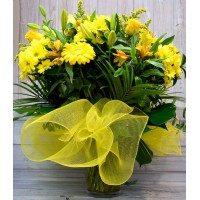 Gerro de flor segons temporada tons grocs