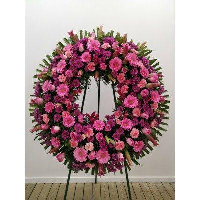 Comprar Corona Anémona en tonos lilas y rosas Barcelona
