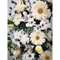 Corona Anemona en tons blancs