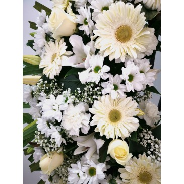 Anemone crown in white  tones