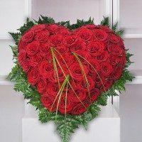 Corazón de rosas