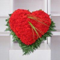 Corazón de claveles