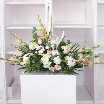 Comprar Coixí flors variades tons blancs i roses Barcelona
