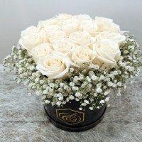 Caja de flor natural