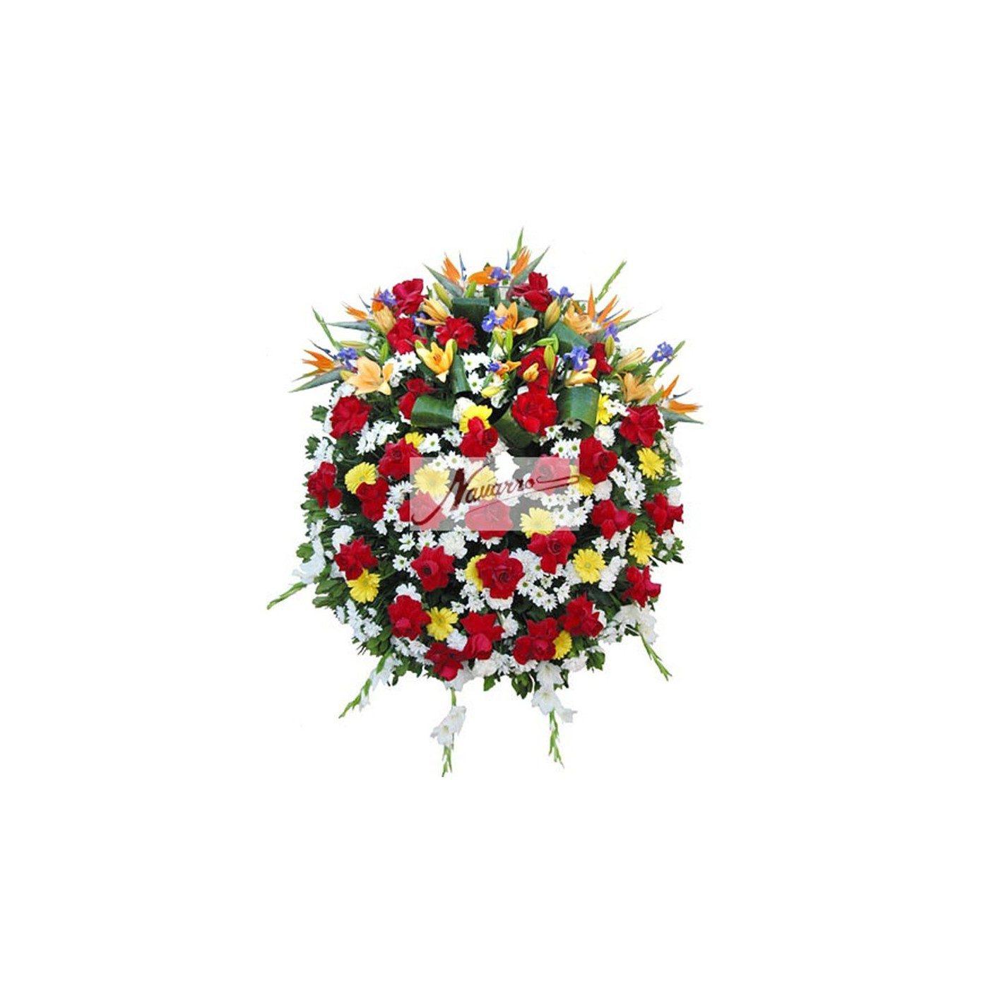 Corona de flor variada