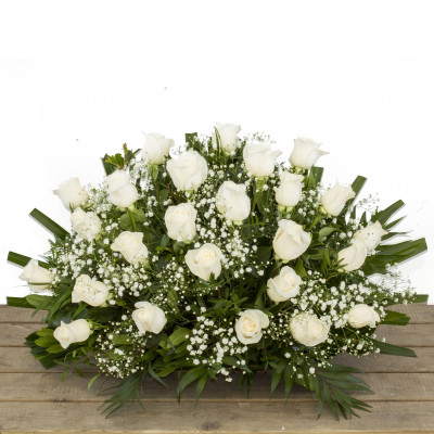 Jardinera de flor natural para cementerio