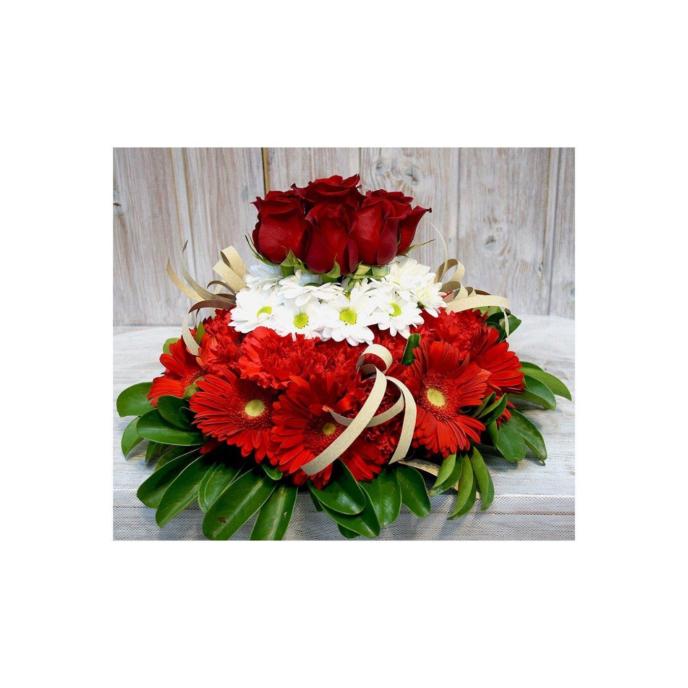 Cake of flower