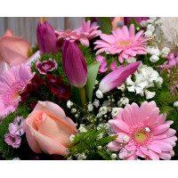 Cesto de flor variada con peluche