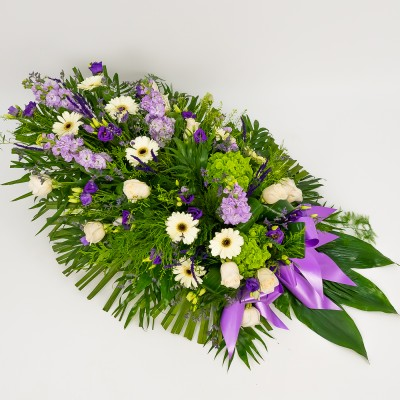 Funeral bouquet in white...