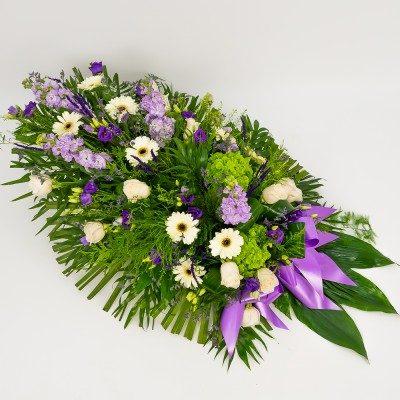 Comprar Ramo funerario en tonos blancos y lilas Barcelona
