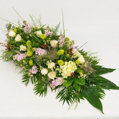 Romantic  funeral bouquet