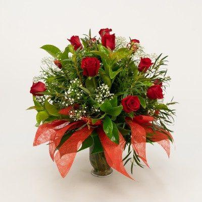 Jarrón de 15 rosas