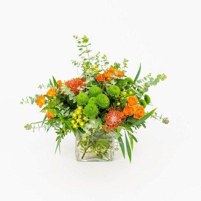 Glasspot of leucoespermum...