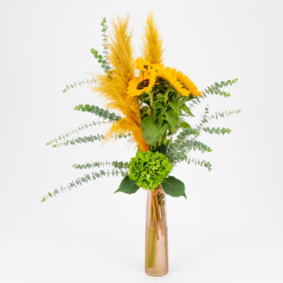 Bouquet of sunflowers and...