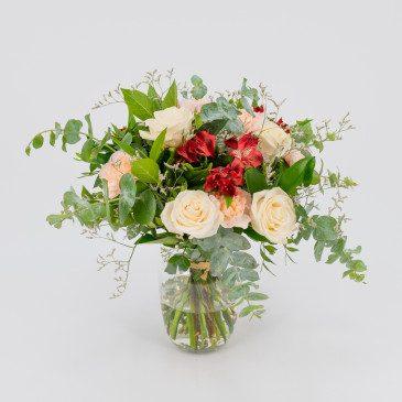 Ramo de rosas,claveles y...